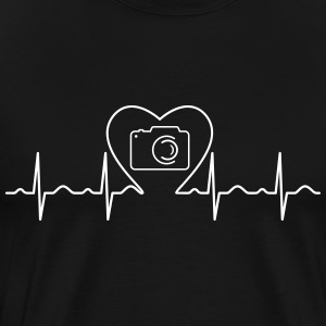 Heartbeat Love Photography T-skjorter - Premium T-skjorte for menn