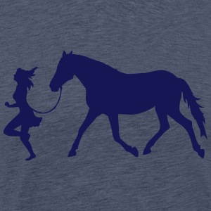 Women with horse Tee shirts - T-shirt Premium Homme