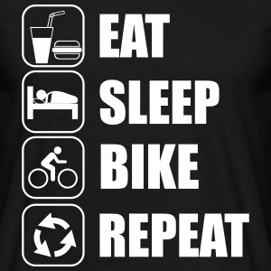 Eat,sleep,bike,repeat Fahrrad T-shirt - Men's T-Shirt
