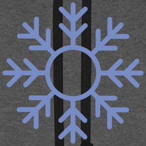 Blue Snowflake ornament Hoodies & Sweatshirts - Unisex Baseball Hoodie