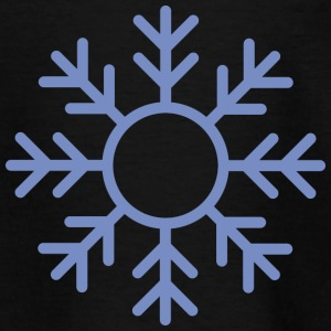 Blue Snowflake ornament Shirts - Teenage T-shirt