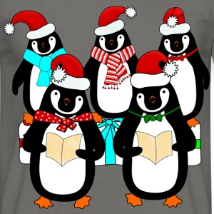 Penguin Christmas choir t-shirt for men - Men's T-Shirt