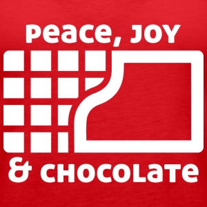 Peace, joy & chocolate (dark) Tops - Women's Premium Tank Top