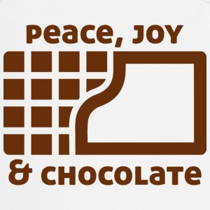 Peace, joy & chocolate  Aprons - Cooking Apron
