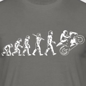 Motorcycle Evolution Wheelie White Print - Men's T-Shirt