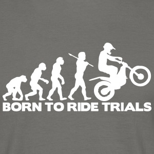 trials bike evolution 02 born to ride - Men's T-Shirt