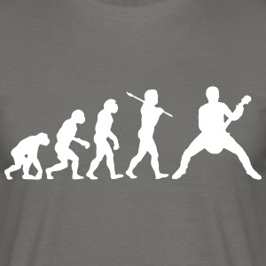 rock out guitarist evolution - Men's T-Shirt