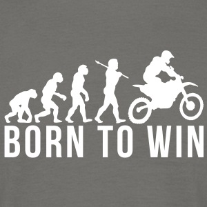 motocross evolution born to win - Men's T-Shirt