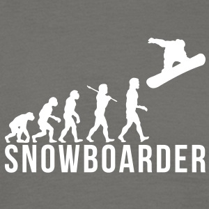 snowboarding evolution snowboarder - Men's T-Shirt