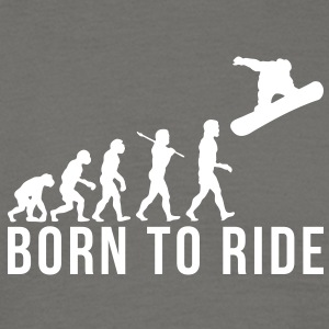 snowboarding evolution born to ride - Men's T-Shirt
