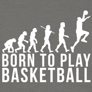 basketball evolution born to play basket - Men's T-Shirt