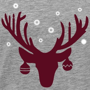 Hipster Christmas Antlers T-Shirts - Men's Premium T-Shirt