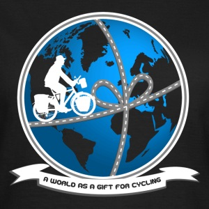 A world as a gift for cycling! Tee shirts - T-shirt Femme