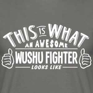 awesome wushu fighter looks like pro des - Men's T-Shirt