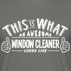 awesome window cleaner looks like pro de - Men's T-Shirt
