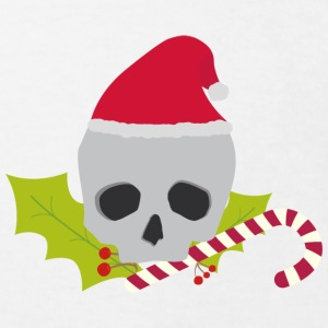 Chirstmas skull with candy cane Shirts - Kids' Organic T-shirt