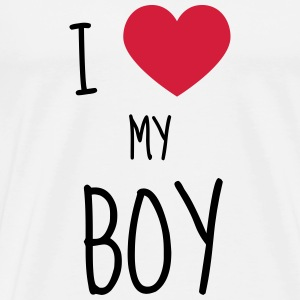 Boy Family Baby Junge Garçon Birth Naissance T-Shirts - Men's Premium T-Shirt