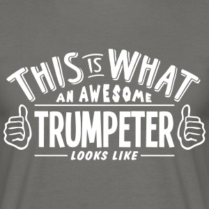 awesome tuba player looks like pro desig - Men's T-Shirt