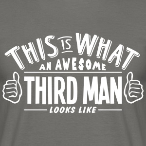 awesome third man looks like pro design - Men's T-Shirt