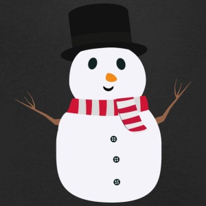 Happy snowman with winterscarf T-Shirts - Men's V-Neck T-Shirt