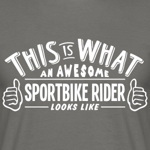 awesome sportbike rider looks like pro d - Men's T-Shirt
