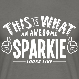 awesome sparkie looks like pro design - Men's T-Shirt