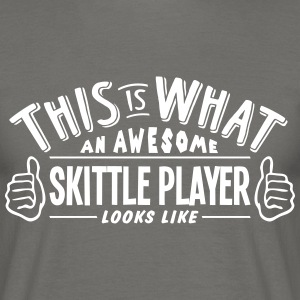 awesome skittle player looks like pro de - Men's T-Shirt