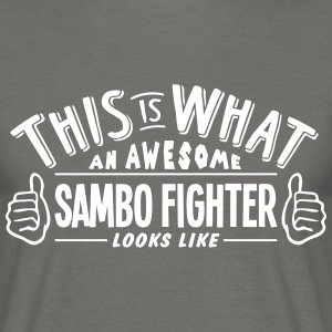 awesome sambo fighter looks like pro des - Men's T-Shirt