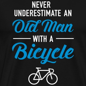 Old Man - Bicycle T-skjorter - Premium T-skjorte for menn