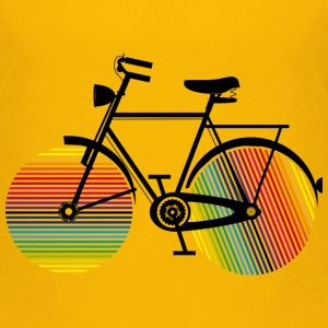 Bicycle with rainbow wheels Shirts - Kids' Premium T-Shirt
