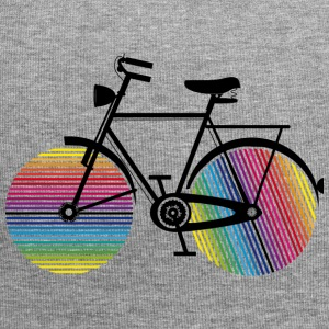 Bicycle with rainbow wheels Caps & Hats - Jersey Beanie