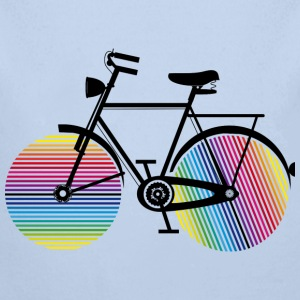 Bicycle with rainbow wheels Baby Bodysuits - Longlseeve Baby Bodysuit