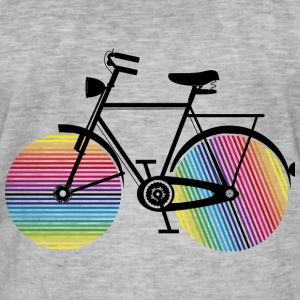 Bicycle with rainbow wheels T-Shirts - Men's Vintage T-Shirt