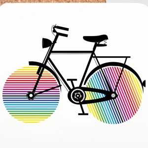 Bicycle with rainbow wheels Mugs & Drinkware - Coasters (set of 4)