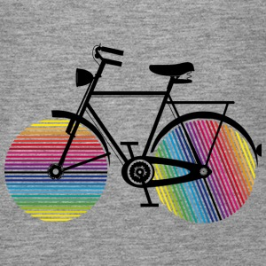 Bicycle with rainbow wheels Tops - Women's Premium Tank Top