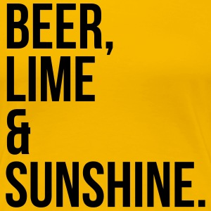 Beer, Line & Sunshine Funny Quote T-Shirts - Women's Premium T-Shirt