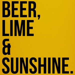 Beer, Line & Sunshine Funny Quote Mugs & Drinkware - Full Colour Mug