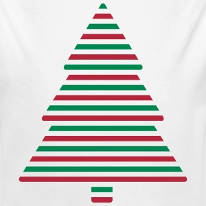 Christmas tree lines Baby Bodysuits - Longlseeve Baby Bodysuit