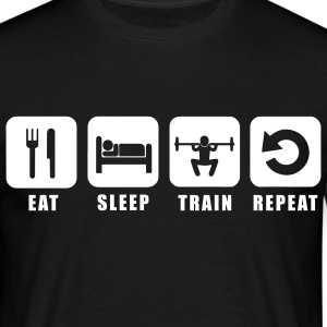 Tee shirt homme Eat Sleep Train Repeat - T-shirt Homme