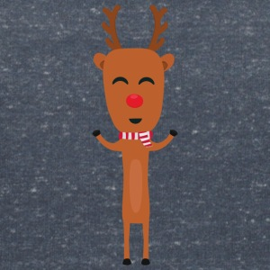 Winter reindeer with scarf T-Shirts - Women's V-Neck T-Shirt