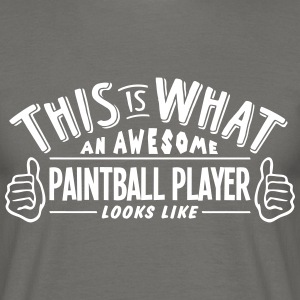 awesome paintball player looks like pro  - Men's T-Shirt