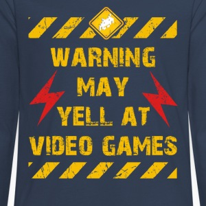 Warning Video Games Langarmshirts - Teenager Premium Langarmshirt