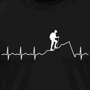 Heartbeat Hiking T-shirts - Mannen Premium T-shirt