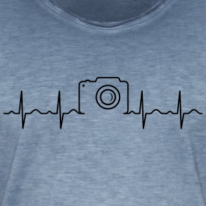 Heartbeat Photography T-shirts - Mannen Vintage T-shirt