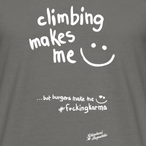 Climbing makes me happy ! Tee shirts - T-shirt Homme