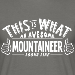 awesome mountaineer looks like pro desig - Men's T-Shirt