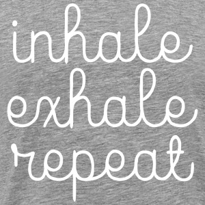 Inhale, Exhale, Repeat T-shirts - Herre premium T-shirt