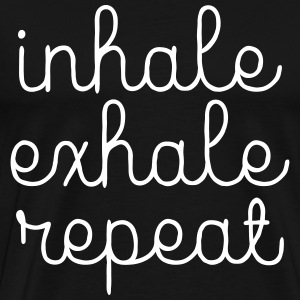 Inhale, Exhale, Repeat T-shirts - Premium-T-shirt herr
