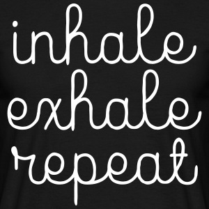 Inhale, Exhale, Repeat T-shirts - Herre-T-shirt