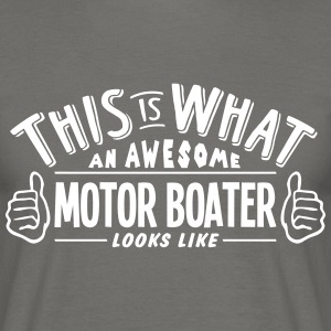 awesome motor boater looks like pro desi - Men's T-Shirt